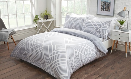 Striped Geometric Duvet Set