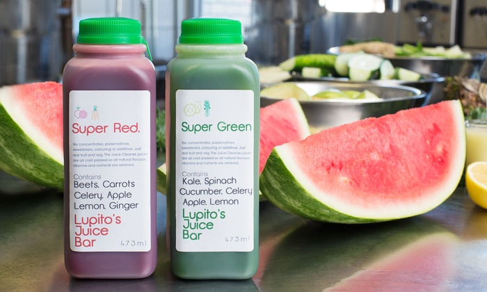 Lupito's Juice Bar - Pilsen: $97 for a Three-Day Cold Press Juice Cleanse at Lupito's Juice Bar ($179 Value)