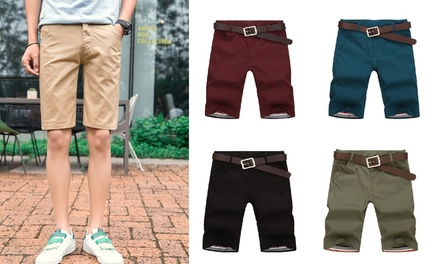 Men's Cotton Shorts in Choice of Size and Colour: One Pair ($17.95) or Two Pairs ($29)