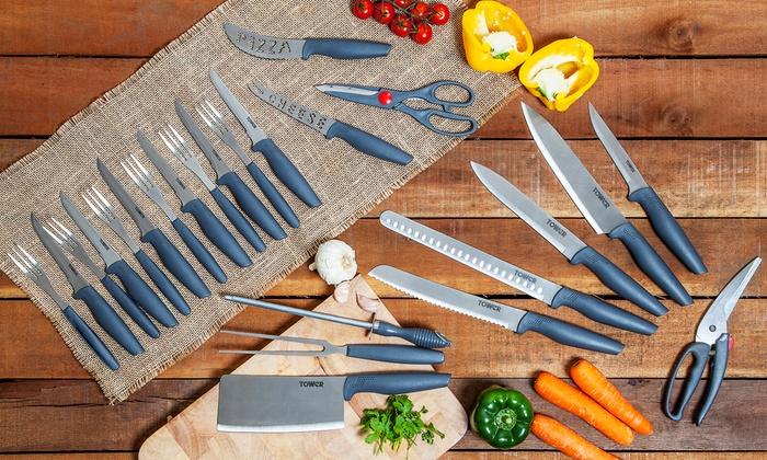 Set de 24 couteaux de cuisine groupon - Set de couteau de cuisine ...
