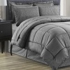 Luxury Home Vine-Embossed Bed-in-a-Bag Comforter Set (8-Piece)