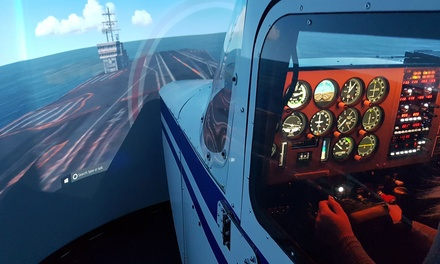 Flight Simulator Session: 30 Minutes for One or Two, or 60 Minutes for Up to Four at LAC Flying School