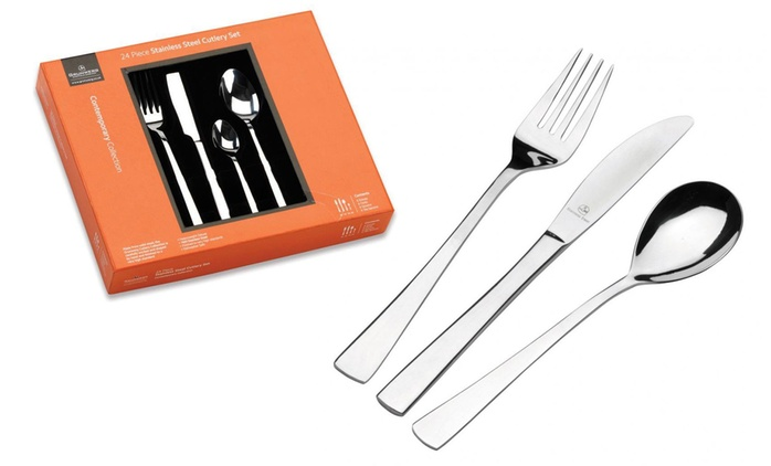 24-Piece Grunwerg Cutlery Set in Choice of Design from £12.98 (Up to 67% Off)