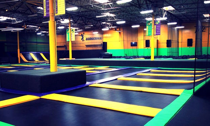Get Air - Stone Mountain - The Southland Country Club: One-Hour Jump Passes or 10-Kid Birthday Party Package at Get Air (Up to 46% Off). Four Options Available.