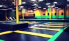 Get Air - Stone Mountain - Stone Mountain: One-Hour Jump Passes or 10-Kid Birthday Party Package at Get Air (Up to 46% Off). Four Options Available.