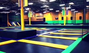 Get Air - Stone Mountain: One-Hour Jump Passes or 10-Kid Birthday Party Package at Get Air (Up to 46% Off). Four Options Available.