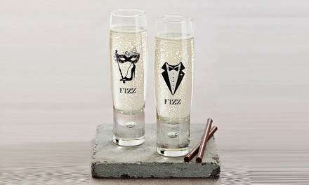 Up to 12 His or Hers Champagne or Prosecco Glasses