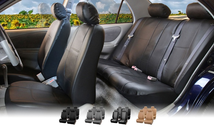 Full Set Of Faux Leather Seat Covers ...