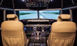 Swiss Power Fly: Un'ora di simulazione di volo nella cabina di un Boeing 737NG più tour dell'hangar con Swiss Power Fly (sconto 51%)