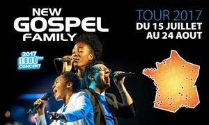 """Master Music: 1 place pour la tournée 2017 """"New Gospel Family"""", dates au choix dès 12 € dans toute la France"""