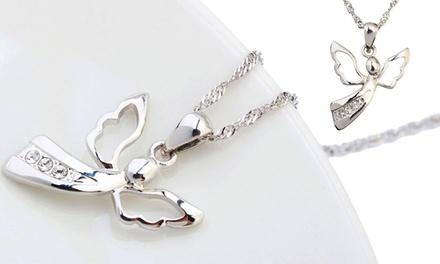 Gepardini Geburtsengel Halsektte veredelt mit Kristallen von Swarovski® in Silber, Roségold oder Gold