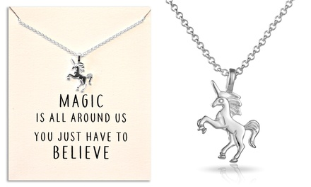 One or Two Philip Jones SilverPlated Unicorn Pendant Necklaces