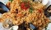 Menu pesce e calice di Falanghina
