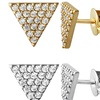 Triangle Studs With Swarovski Crystal Elements in 14K Gold Plating