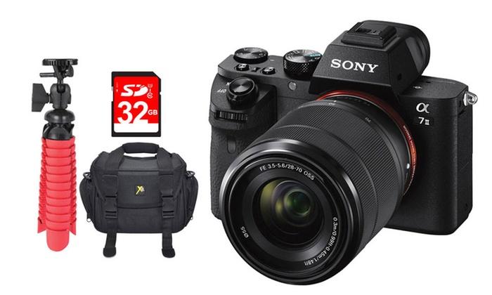 sony a7 ii 243mp full frame interchangeable lens camera bundles sony a7 ii