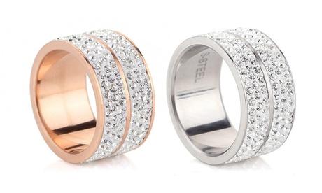 1 o 2 anillos Elyna con cristales