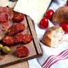 Meat and Cheese Board with Wine