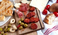 Meat and Cheese Board for Two and a Glass of Wine or Upgrade to a Bottle of Wine to Share, Bus Stop Café (Up to 33% Off)