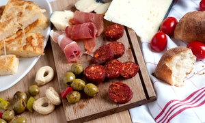 Bus Stop Café: Meat and Cheese Board for Two and a Glass of Wine or Upgrade to a Bottle of Wine to Share, Bus Stop Café (Up to 33% Off)