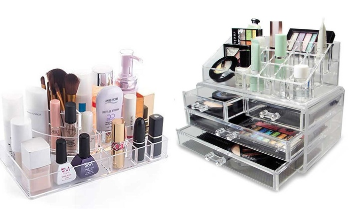 Laroc Clear Acrylic Cosmetic Organiser in Choice of Design From £3.89
