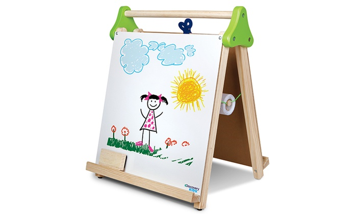 table top easel. Discovery Kids 3-in-1 Tabletop Easel: 3-in- Table Top Easel E