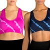 Form+Focus Tie-Dye Sports Bras (2-Pack ) | Groupon Exclusive