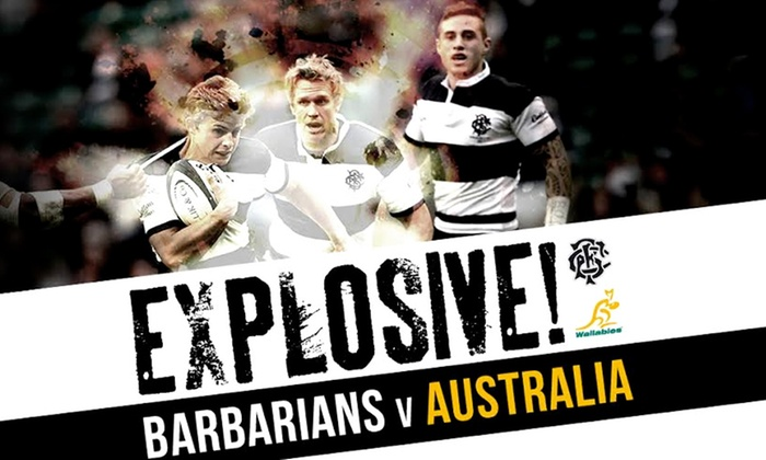 Barbarians - Twickenham: Barbarians v Australia, Twickenham: Adult (from £28) or Child (£15) (Up to 50% Off)