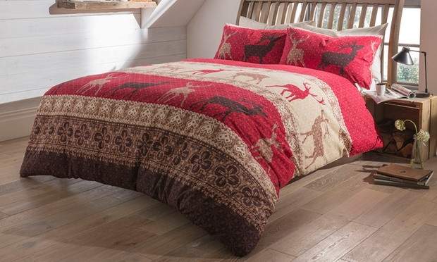 Winter Flannelette Bedding | Groupon Goods