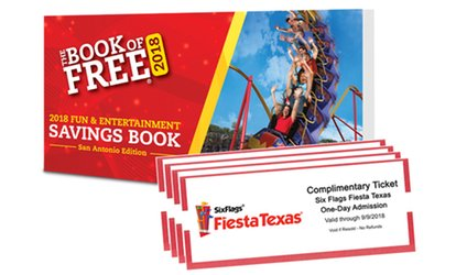 image for Book of Free 2018 Savings Book with Theme Park Tickets (Up to 76% Off)