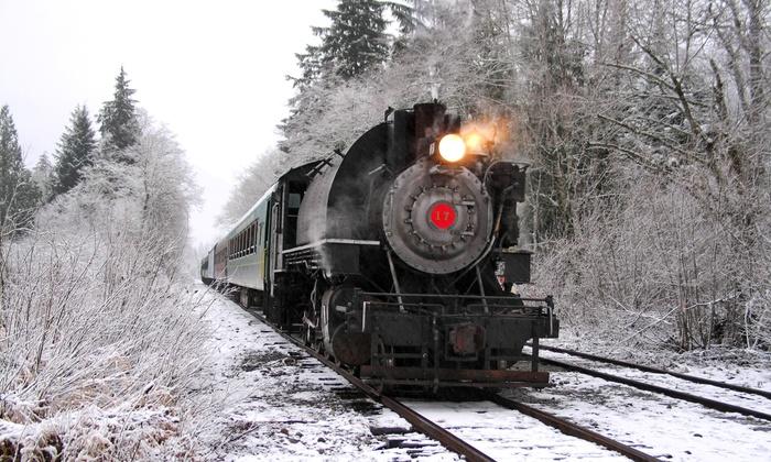 Mt. Rainier Scenic Railroad and Museum - Elbe: $31 for a Train Excursion for Two from Mt. Rainier Scenic Railroad and Museum (Up to $62 Value)