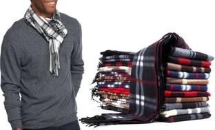 Men's Fleece Scarves in Assorted Colors (6-Pack)