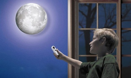 One £12.98 or Two £22.99 Healing LED Rotating Moon Lights With Remote Control