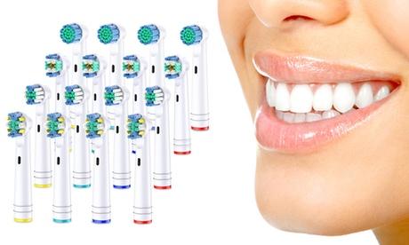 Pack de 16 o 32 cabezales de cepillo de dientes compatibles con Oral-B