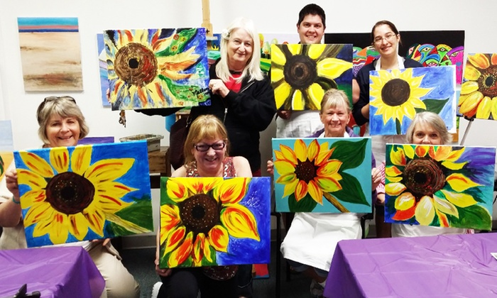 Ree's Painting Parties - Sugar House - VONA Building: Admission to Painting Party for One or Two at Ree's Painting Parties (Up to 50% Off)