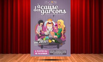 1 place pour A cause des garçons, date au choix à 15 € au Théâtre Comédie Solferino