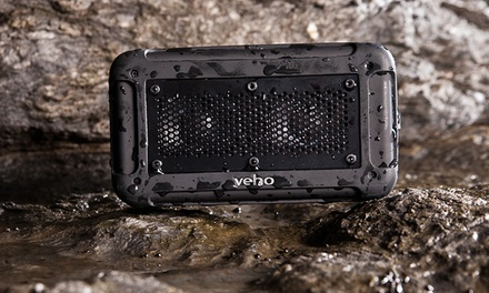 Veho Vecto Water-Resistant Bluetooth Speaker with Mic and Built-in Power Bank