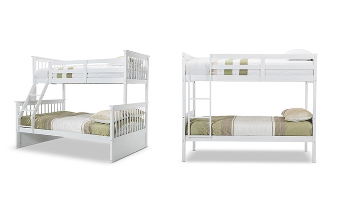 Single Or Double Wooden Bunk Bed Groupon