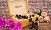 Essential Oil Storage Box with Accessories: 24-Bottle Essential Oil Wooden Storage Box with Accessories