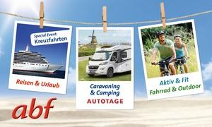 """Fachausstellungen Heckmann: 1 Tagesticket für die """"abf – Messe für aktive Freizeit"""" vom 31.01.-02.02.2018 auf dem Messegelände Hannover (49% sparen)"""