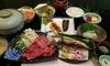 岡山 某サイト夕食評価4.7点/千屋牛しゃぶしゃぶ会席/べんがらの町宿/1泊2食
