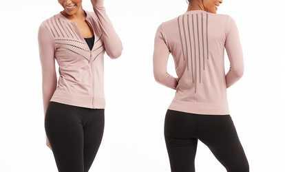 2cf3c776d9 Shop Groupon Marika Women s Cut-Out Seamless Jacket