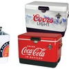 Coca Cola, Coors Light, or Miller Lite Stainless Steel Ice Chest