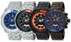 Adee Kaye Men's Swiss Sports Chronograph Watch: Adee Kaye Men's Swiss Sports Chronograph Watch