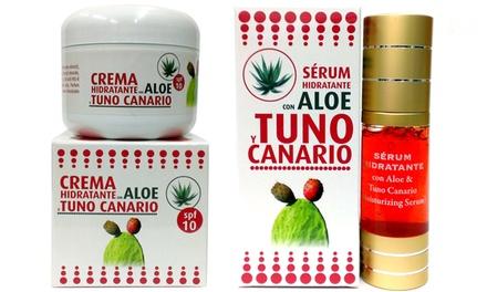 Tratamiento facial hidratante para pieles sensibles de tuno canario