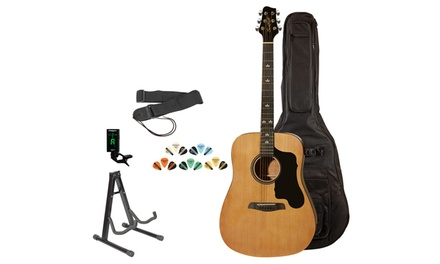 Sawtooth Acoustic Guitar. Includes Accessories, Gig Bag, and Online Lesson.