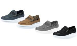 Akademiks Men's Slip-On Boat Shoes