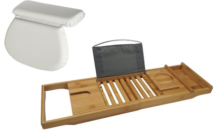 Bath Pillow or Bamboo Tray