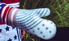 American Flag Silicone-Covered Quilted Oven Mitt