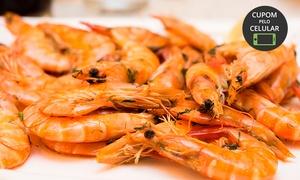 Marzão Frutos do Mar:  Festival de camarão para 1 ou 2 pessoas no Marzão Frutos do Mar – Santo André