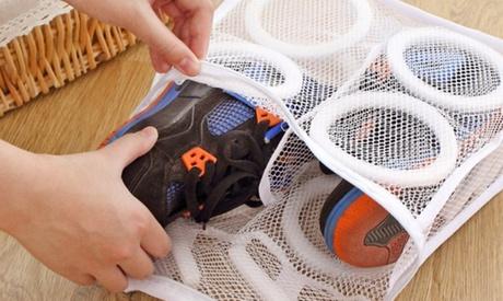 1, 2 o 3 bolsas para lavar los zapatos en la lavadora